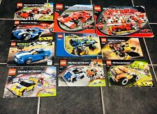 Lego Racers Ferrari Team Instruction Manuals Pamphlets 8144,8142,8123,8124,8125