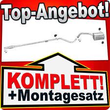 KIT Auspuff Mittelrohr/& Endtopf Fiat Panda 1.1ii 1.2i 40//44kW ab 2003