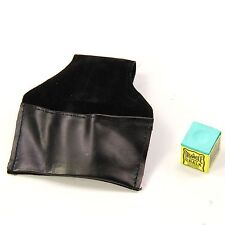 PLAIN Leather Chalk Pouch With Belt Hook – For Snooker & Pool Players