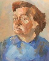 Vintage expressionist oil painting portrait