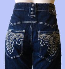 ANTIK denim blue jean 30 western cowboy embroidered men  MCR21617R