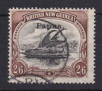 PNG225) Papua 1907 Lakatoi Small 'Papua' overprint, wmk vertical thin paper 2/6d