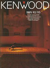 Kenwood Katalog Prospekt 92/'93 L-1000 DP-X9010 KA-9010 KR-V9030 KT-7020 KX-9050