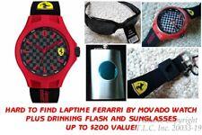 NEW Scuderia Ferrari 0830287 Black/Red Carbon Fiber Pit Crew Silicone Mens Watch