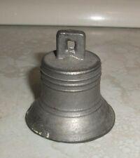 Vintage Old Pewter/Lead Metal Bell & Ringer Greenfeild Village Henry Ford Museum