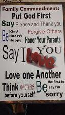 Ten Commandments. Family, House Commandments. Family education. Family Prayers