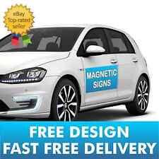 2 X FULL COLOUR PRINTED-MAGNETIC VEHICLE VAN CAR SIGNS - FREE P&P | FREE DESIGN