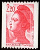 TIMBRE VARIETES : LIBERTE : 2,20 Rouge Rlette N° Yvert : 2379 L50T
