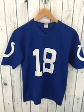Peyton Manning #18 Indianapolis Colts Jersey Blue size Youth Large 14-16 GTS S2