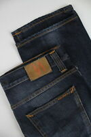 Nudie Jeans Media Joe Org. Contrasto Indaco Men' S W34/L32 Jeans 0916_