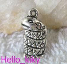 60pcs Tibetan silver snake charm A10417