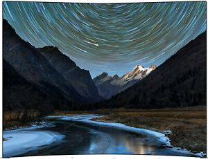 Night Sky and Mountain Silhouette Tapestry