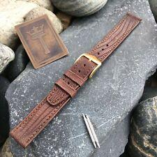 "14mm 9/16"" Angelus Swiss Genuine Lizard New Old Vintage Watch Band nos"