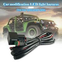 40A 12V Wiring Loom Harness Relay Fuse Kit for Offroad LED Work Driving LightBar