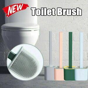 Revolutionary Silicone Flex Toilet Brush And Holder Creative Cleaning Brush Set@