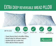 """Super Soft """"BREAD"""" Pillow With A Baffle Edge And Quilted Side"""