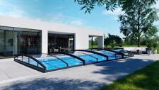 Schwimmbadüberdachung Infinity B Pool Überdachung Schwimmbadabdeckung Carbon 8,5