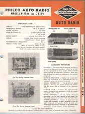 Philco Auto Radio Model P-5506 + C5509 - Mopar No. 832 + 835 Service Manual