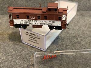 N Scale Atlas Santa Fe Cupola Caboose 50 001 343 Golden Spike Club #2164 ATSF