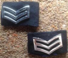 British POLICE short  slide Epaulettes with Metal Sergeant rank