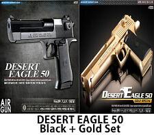 Desert Eagle 50 Black + Gold Set Airsoft Pistol Handgun Hand Grips 6mm BB Gun