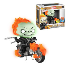 Funko Pop Vinyl Marvel Classic Ghost Rider with Bike Glow-in-the Dark Previews E