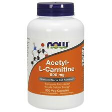 Now Foods Acetyl-L Carnitine 500mg - 200 Vegetarian Capsules