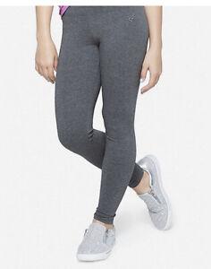 JUSTICE Dark Grey Full Length Classic Leggings Size 12/14💜💜💜