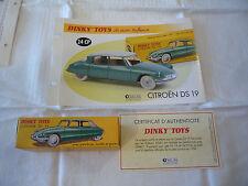 CITROEN DS 19 1956 Dinky Toys N°24CP + Boite + livret + Porte clés du club NEUVE