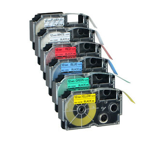 Compatible for Casio XR Label Tape 9/12/18mm all Colour Size KL-60 KL-100