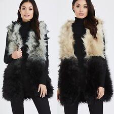 Women Ladies Winter Faux Fur Sleeveless Vest Gilet Waistcoat Jacket Outwear