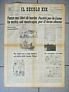 IL SECOLO XIX - PARTITI PER LA LUNA - 12 APRILE 1970 APOLLO 13 - LUNA SPAZIO