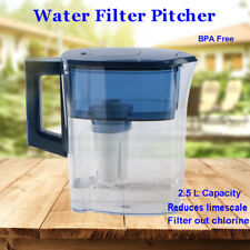 Water Pitcher Jug Purifier 2.5 L Reduces limescale + 4 Stage Filter(Fits Brita)