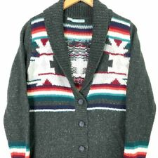 Maurices Womens Cardigan Multicolor Nordic Fair Isle Long Sleeve Rib Sweater M