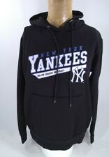 Majestic New York Yankees Hoodie Black Sweatshirt Mens Large Baseball Slim Fit