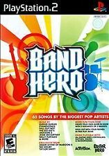 BAND HERO MULTIPLAYERS VIDEO GAMES FOR SONY PLAYSTATION 2 PS2 DRUMS GUITARS SING