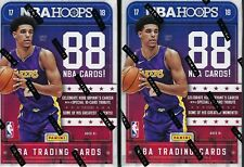 (2) 2017-18 Panini HOOPS Basketball NBA Trading Cards 88ct Ret Blaster Box LOT