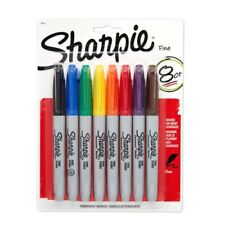 Sharpie Permanent Markers, Fine Point, 8 Pack, Assorted Colors (30217PP)