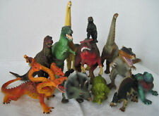 Rare Vintage Assortment Of Dinosaur Dragon Iguana Toy Figures Lot Of 12