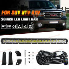 "20"" 100W Led Offroad Light Bar Driving Work Lamp For Gmc Sierra 1500 2500 3500Hd"