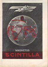 Rome Paris Berlin, publicité 1928, Scintilla MAGNETOS AVIONS MOTEURS