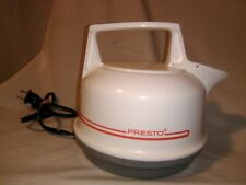 Vtg Presto Electric Tea Kettle 0270001 White Plastic RV Kitchen Appliance