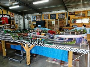 Scalextric 6 car digital race track 23 Meters long one of a kind.