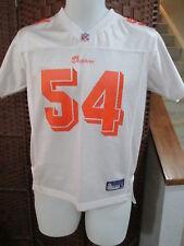 Miami Dolphins Zach Thomas #54  Football Jersey Youth L Reebok White Orange