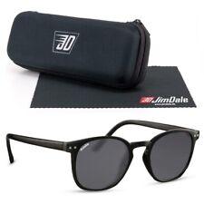 Jim Dale Panto Sonnenbrille Schwarz getönt UV400 Markenbrille Unisex Herren