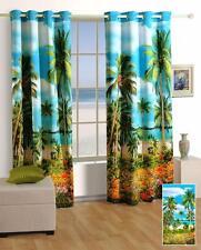Digitally Printed Palms Green Lounge Blockout Eyelet 1 x Curtain 120 x 220cm