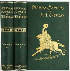 1888 Personal Memoirs of P. H. Sheridan First Edition Civil War Illustrated Fine
