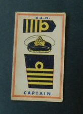 Rare 1930's Sweetacres Card Australian Fighting Force Badges Captain R.A.N.