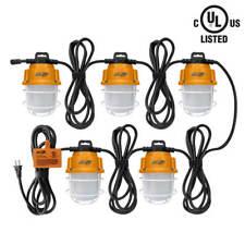 DuraDrive 50 ft. 14/2 SJTW 10,000-Lumen 5,000K IP65 5-Lamp LED String Work Light
