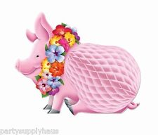 Hawaiian LUAU PIG tissue honeycomb CENTERPIECE Party Table Decoration Tiki Beach
